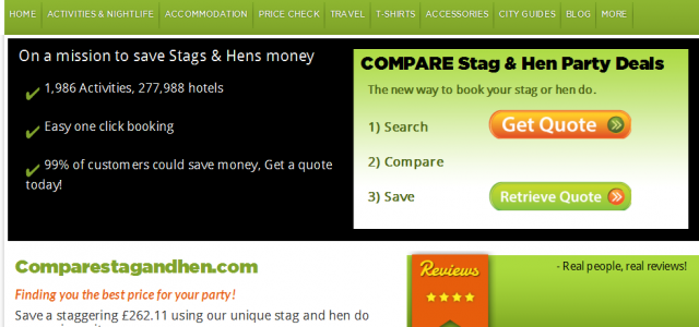 Stag and Hen Comparison Site