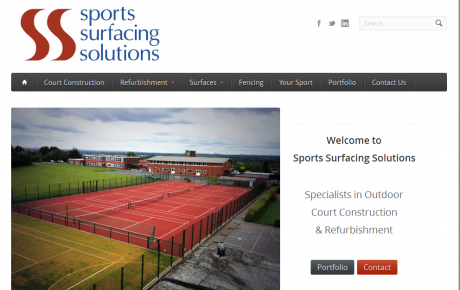 Website Created for Sports Surfacing Solutions