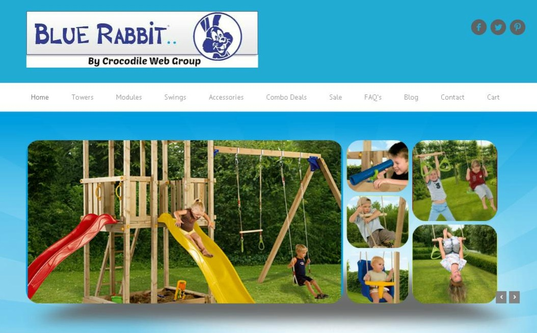 Blue Rabbit Climbing Frames Website